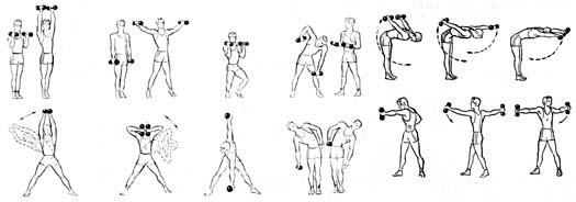 Вправи з гантелями 3