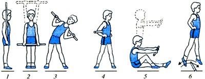 Вправи з гімнастичною палицею 1