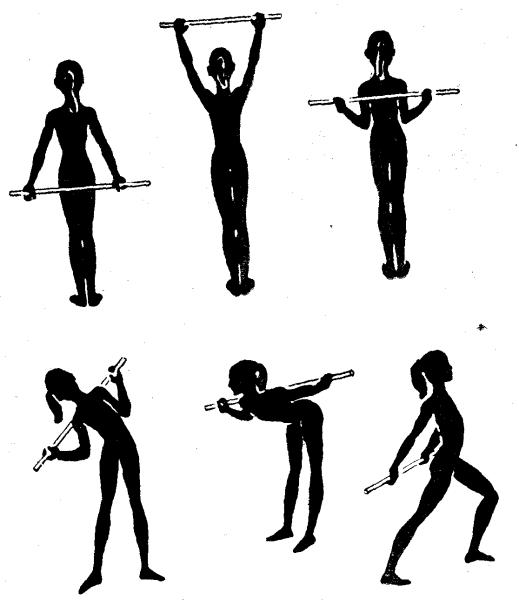 Вправи з гімнастичною палицею 3