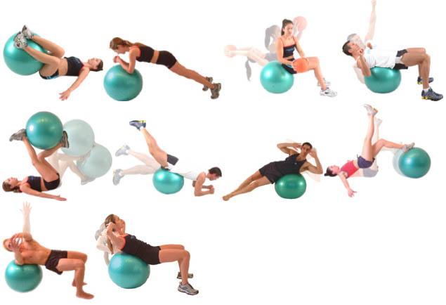 Вправи з фітболом 1