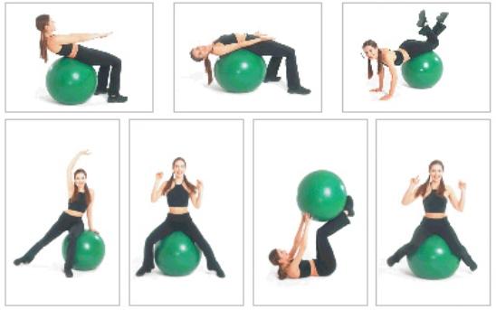 Вправи з фітболом 2